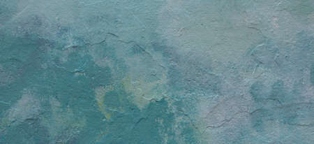 Abstract light blue color tone painted wall texture background outdoors