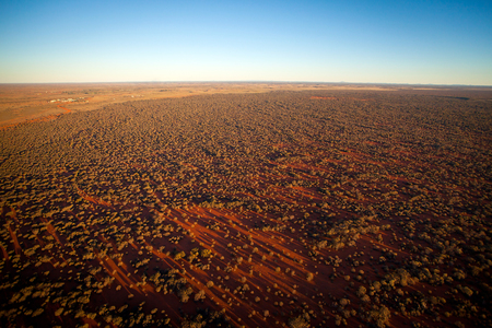 outback australia: An aerial view of desert outback Australia at Sunset