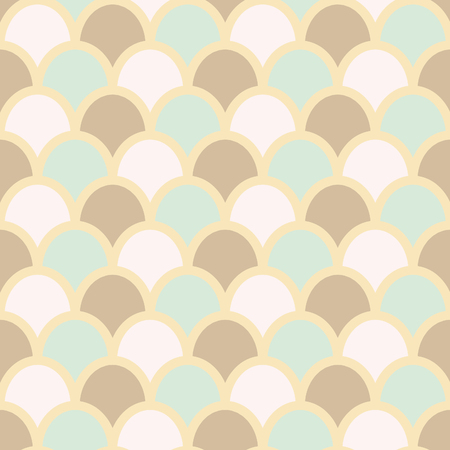 fish scales: Fish skin style background. Fish scales pattern. Pastel colors. Fish skin seamless background, vector illustration. Stock Photo