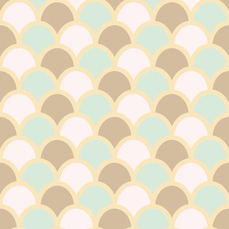 escamas de peces: Peces del fondo del estilo de la piel. Las escalas de pescados patr�n. Los colores pastel. Pescados piel de fondo sin fisuras, ilustraci�n vectorial.