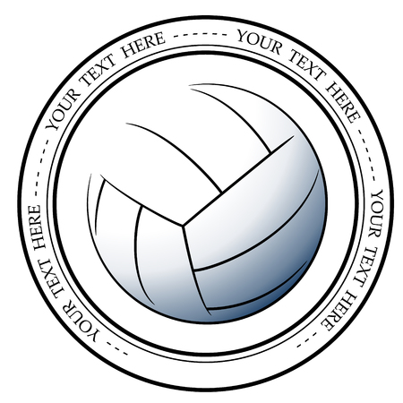 Graphic volleyball logo. Vector isolated illustration of a basketball association or a sports event logo, sign, symbol.