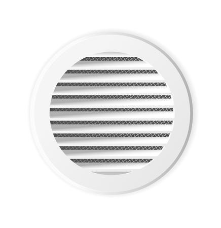 Round ventilation grill. Isolated illustration. Vector. Ventilation frame