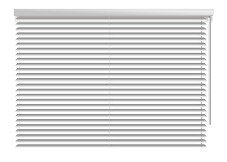 window shade: Window shutters. Office interior blinds. Window decor. Horizontal window blind. Illustration