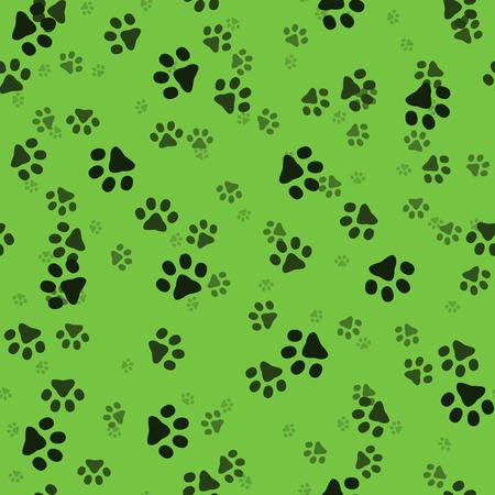 sized: Animal paws. Random sized footprints. Seamless pattern. Illustration
