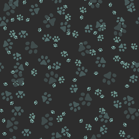 sized: Animal paws. Random sized footprints. Seamless pattern. Vector illustration Illustration