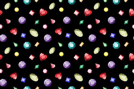 opal: Seamless gemstones pattern. Colorful jewels Vector illustration