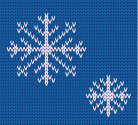 relocate: Knit seamless pattern with snowflakes. wool background. vector. Winter theme. Easy to relocate snowflakes.