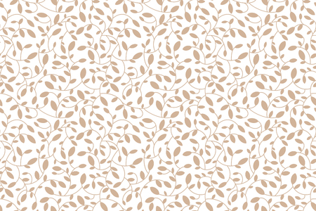 the sprouting: Floral seamless pattern. Brown leaves and sprouts. Transparent background. Vector. Print for textile or web .