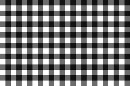 chequer: Classic blalck checkerboard Chequer seamless pattern for textile, paper print. Illustration