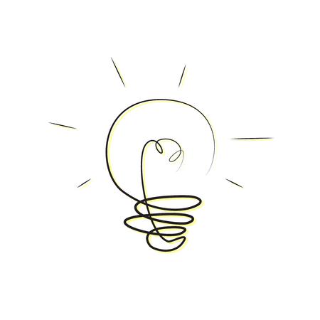 Light bulb. Great idea Bulb icon clipart. Vector illustration.