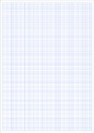 Millimeter paper. Millimeterpapier grid blue ruler. a4 graphic vector sheet