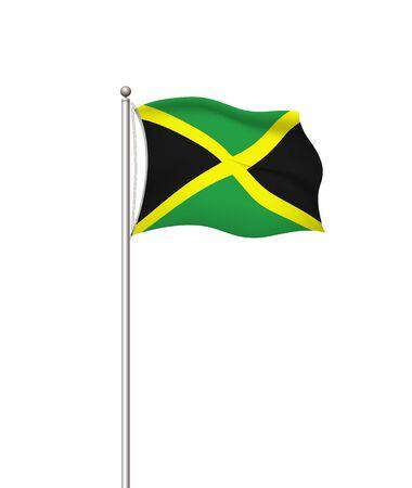World flags. Country national flag post transparent background. Jamaica. Vector illustration. Illusztráció