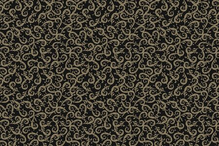 Leaves texture for textile. beige Floral seamless background. Vector. Stockfoto