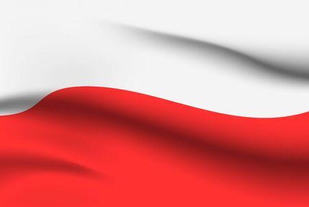 Drapeaux du monde. Fond de drapeau national de pays. Pologne. Illustration vectorielle