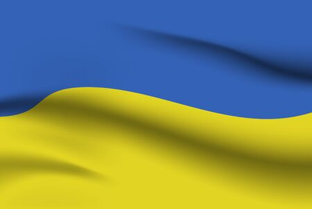 World flags. Country national flag background. Ukraine. Vector illustration Stock fotó - 129826019