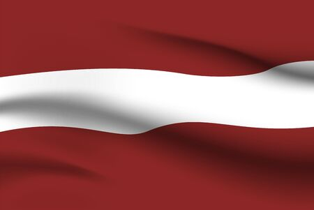 World flags. Country national flag background. Latvia. Vector illustration
