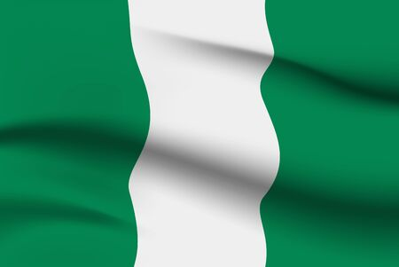 World flags. Country national flag background. Nigeria. Vector illustration Stock fotó - 129826022