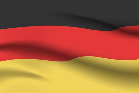 World flags. Country national flag background. Germany. Vector illustration