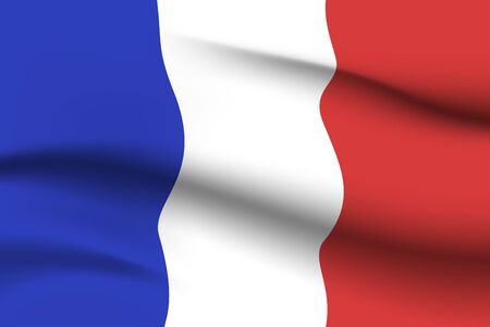 World flags. Country national flag background. France. Vector illustration