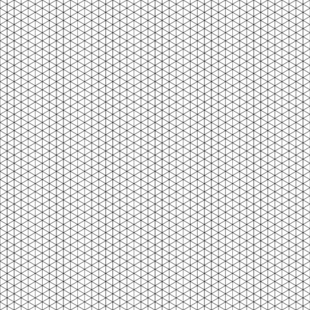 Isometric projection grid background 3d solid illustration model works. vector seamless line pattern. Black small triangle cell simple isometric grid. Isometric drawing engineering