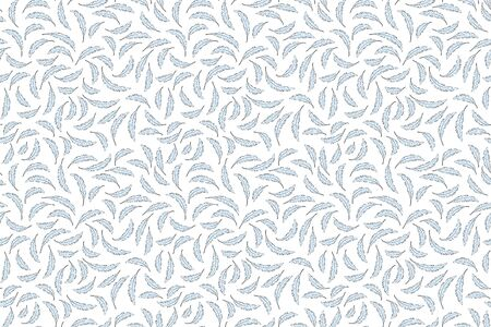 Blue feathers pattern. Seamless vector. Calm soft and light textile texture. Good night sleep feeling. background. graphic tranquility illustration feather pattern