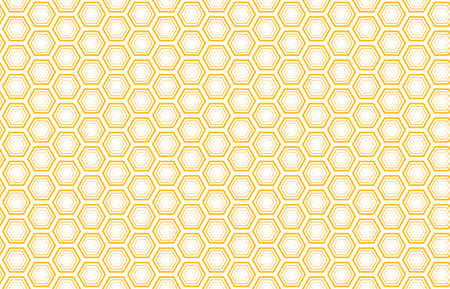 Bee honey comb background seamless. Vector pattern of bee honeycomb cells. Illustration seamless texture. Geometric print graphic honey comb