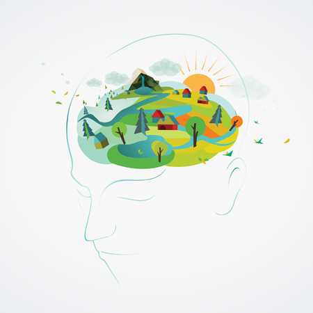 A vector illustration of a peaceful mind  Vector