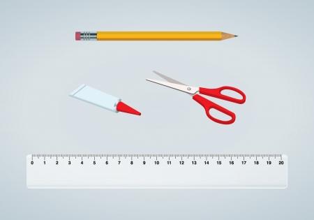 school kit: A vector illustration of a school kit