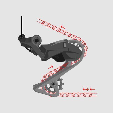 how rear deraillur work bike component bicycle part