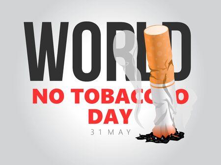 world no tobacco day. stop smoking. vector concept