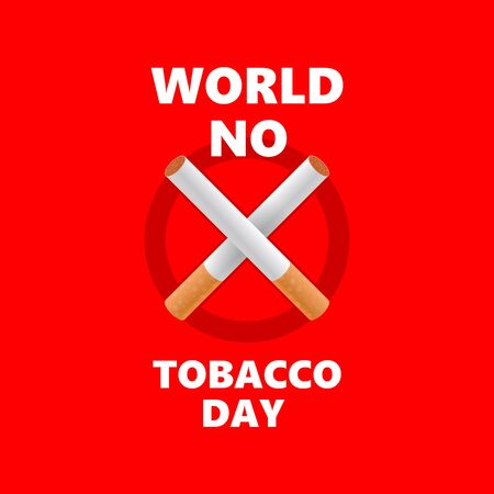 world no tobacco day. stop smoking. crossed cigarettes. healthy concern vector concept
