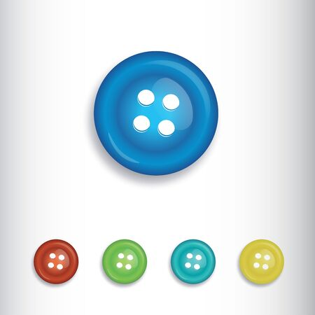 Round shaped plastic material having holes in it to be used on clothes, buttons