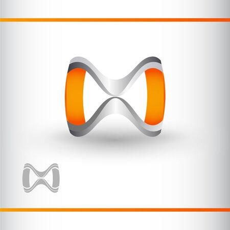 Vector unreal symbol of infinity. Infinite loops template for your design. Ilustração