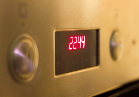 explosive watch: electronic clock with red numbers