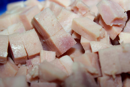 diced: white meat diced Stock Photo