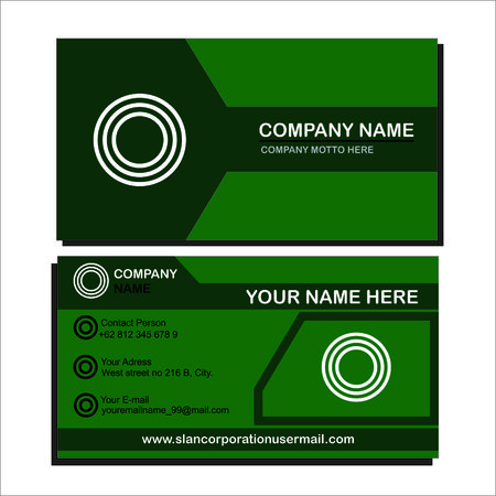 green bussiness card Illustration