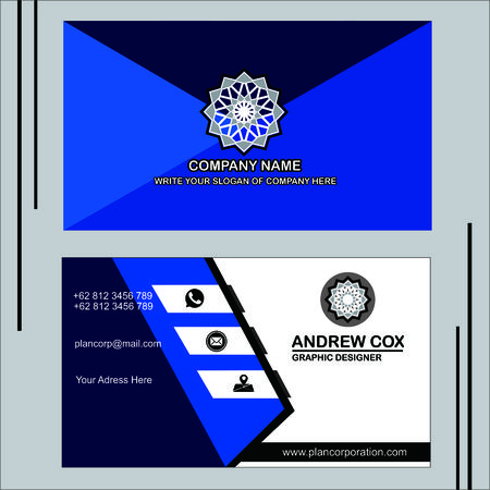 blue bussiness card