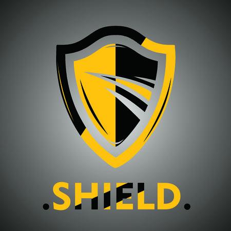 Shield icon template design vector illustration.