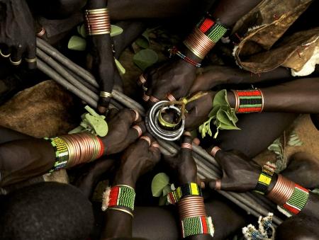 ethiopian:  Bull Jumping Ceremony - Ethiopia, Africa