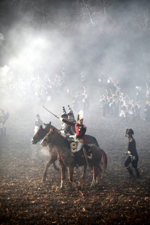The Battle of Austerlitz, also known as the Battle of the Three Emperors, was one of Napoleon Stock Photo - 18368119
