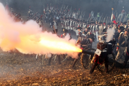 The Battle of Austerlitz, also known as the Battle of the Three Emperors, was one of Napoleon Stock Photo - 18368118