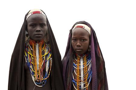 Arbore girls - south Ethiopia, africa
