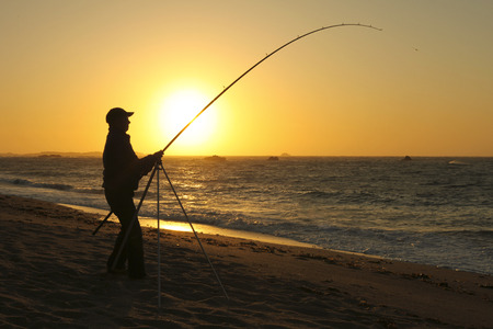 Fisherman - Alderney, Channel islands, United kingdom Stock Photo