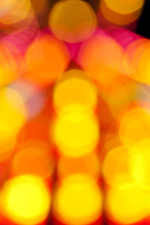 Blurred colored dots on a black background - Photo taken 5. November 2014 Stock Photo