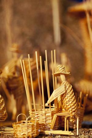 Basket maker character of Bethlehem, made from straw. Photo taken 30.11.2014