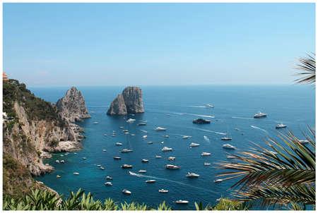 Amazing view of the Faraglioni rocks. island of Capri Stock fotó