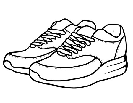 causal: Sketch doodle sneakers for your creativity Illustration