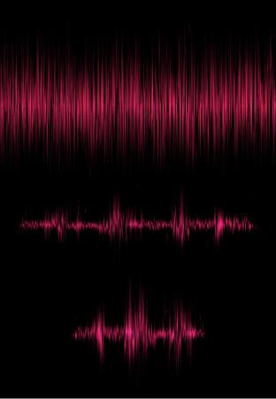 音の振動を持つ要素の集合。共鳴。パルス。心電図