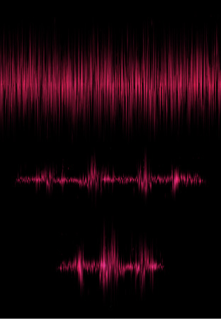 A set of elements with the vibration of the sound. Resonance. Pulse. cardiogram