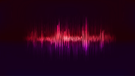 Vector techno background with vibration sound. Resonance. Pulse. cardiogram